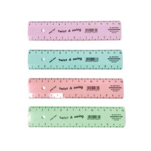 【STANDARDGRAPH/スタンダードグラフ】SG-904−PA ツイスト&スウィング パステル 直定規 15cm ゆうパケット(メール便) 新学期 お祝い