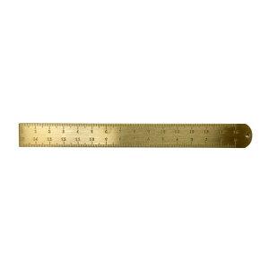【POINT/ポイント】15cm ブラス ルーラー 真鍮製 直定規 ゆうパケット (メール便)発送