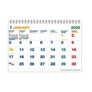 【etranger di costarica/エトランジェ ディ コスタリカ】2022年 カレンダー 卓上 A5 ホワイト 0102-CLT-A-04 ゆうパケット出荷(メール便)