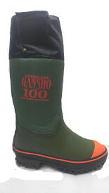 送料無料 ミツウマ 岩礁 100 岩礁100 防雪靴 鋼鉄製スパイクピン 林業 山菜取り 釣り ワカサギ釣り レインブーツ 防水 ラバーブーツ 長靴