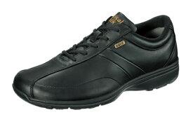 送料無料 ASAHI(アサヒ) MEDICALWALK-MF メディカルウォーク MF BLACK ブラック 膝の予防 メンズスニーカー サイドファスナー付き 幅広4E ウォーキングシューズ 紳士靴