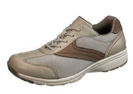 送料無料 ASAHI(アサヒ) MEDICALWALK MS-C メディカルウォーク MS-C ベージュ 膝の予防 メンズスニーカー サイドファスナー付き 幅広4E ウォーキングシューズ 紳士靴