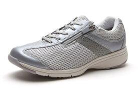 送料無料 ASAHI(アサヒ) MEDICALWALK MS-L メディカルウォーク シルバーメタリック 膝の予防 レディススニーカー サイドファスナー付き 幅広4E ウォーキングシューズ 紳士靴