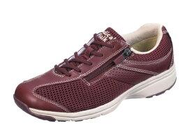 送料無料 ASAHI(アサヒ) MEDICALWALK MS-L メディカルウォーク ワイン 膝の予防 レディススニーカー サイドファスナー付き 幅広4E ウォーキングシューズ 紳士靴