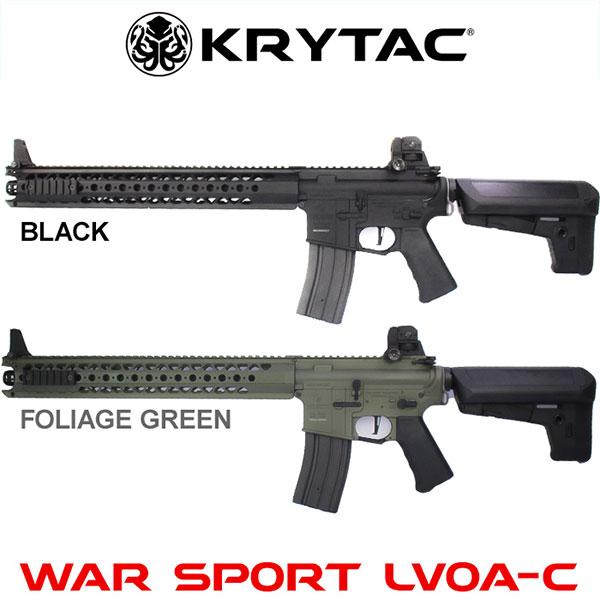 【近日入荷予定・ご予約品】【30日保証付き】KRYTAC クライタック WAR SPORT LVOA-C BK(ブラック) FG(フォリッジグリーン) FET搭載 電動ガン 本体のみ 4571443141170 4571443137142 最強の剛性 ウォースポーツ エルボア 18歳以上 0721gn