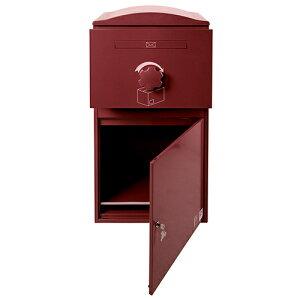 ■BOWCSボウクス【BrizeboxEX-LargeブライズボックスEXラージボルドー】宅配ボックスおしゃれ宅配ポスト郵便受けポスト壁付け壁面スタンド据え置き複数受取り対応
