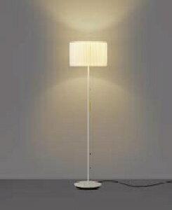無料プレゼント対象商品 コイズミ照明 KOIZUMI 調光フロアスタンド AT49309L 本体:ファインホワイト AE49317E セード:ホワイトプリーツ 調光SW付 電球色 白熱球40W相当