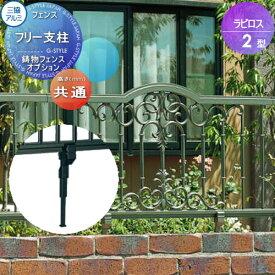 鋳物フェンス 三協アルミ 三協立山 ラビロス2型【フリー支柱】 ガーデン DIY 塀 壁 囲い エクステリア