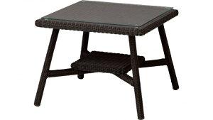 庭座 カフェテーブル 600 (ダークブラウン)