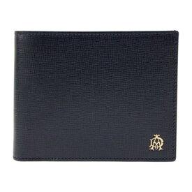 ダンヒル DUNHILL 折財布 二つ折り財布 メンズ財布 ベルグレイブ BELGRAVE L2T732N ネイビー イエロー
