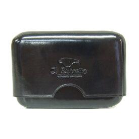 イル・ブセット IL Bussetto イルブセット メンズ 名刺入れ カードケース スライド式 ブラック