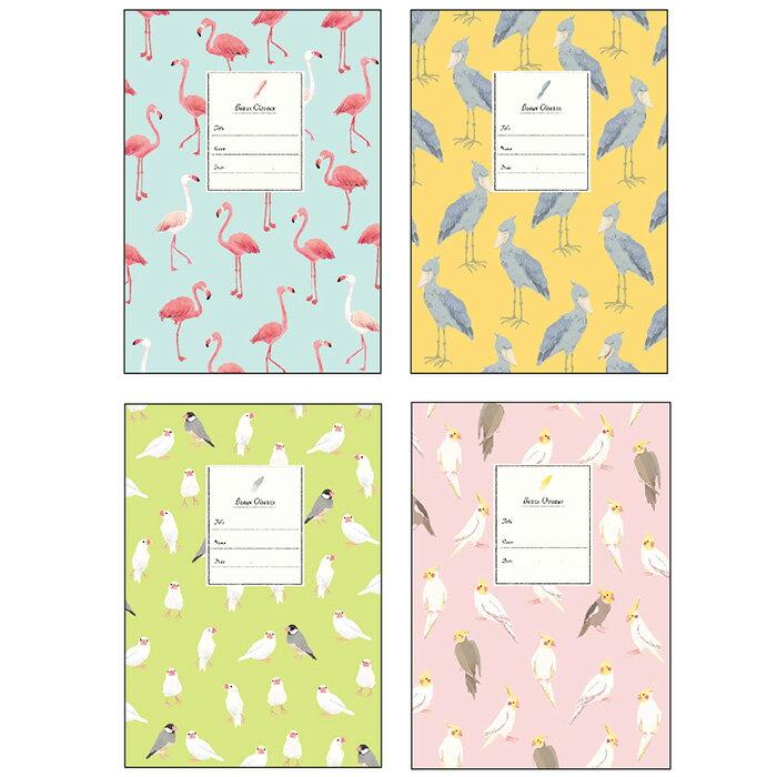 【Beaux Oiseaux/オリエンタルベリー】A5ノート ◆小鳥グッズ/小鳥雑貨/文具/文房具/ノート/おしゃれ