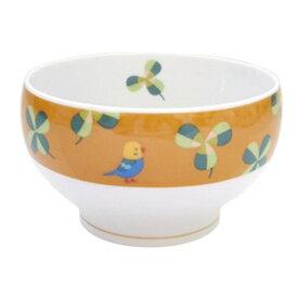 【KOTORITACHI】飯碗・茶碗 ★クローバーとセキセイ ◆小鳥グッズ 小鳥雑貨 キッチン用品 食器 茶わん スープマグ 陶器 国産 セキセイインコ