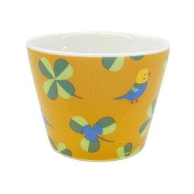 【KOTORITACHI】フリーカップ ★クローバーとセキセイ ◆小鳥グッズ 小鳥雑貨 キッチン用品 食器 カップ コップ マグ 陶器 国産 セキセイインコ