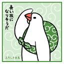 【ふろしき文鳥】ミニタオル /ことりカフェ 小鳥 鳥 日用雑貨 グッズ ハンドタオル 白文鳥 ハンカチ