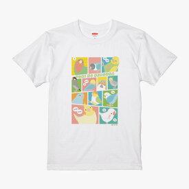 【BIRDSTORY】TORINOSHIGUSA Tシャツ カラー Sサイズ ◆小鳥グッズ 小鳥雑貨 アパレル 洋服 Tシャツ イベント 部屋着 ルームウェア おしゃれ ファッション ティーシャツ ファングッズ リネン 綿シャツ プレゼント