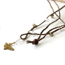 【トモ・コーポレーション】 ハトモチーフネックレス ★シプル ◆クリックポスト対応◆ 雑貨 アクセサリー ネックレス ハト 鳩 はと 真鍮