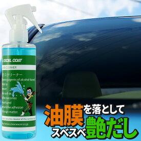 洗車用品 ガラスクリーナー 業務用 250ml×1本 拭き取り用クロス付き 車 ウィンドウ 窓ガラス 油膜 汚れ 洗浄 クリーン キレイ カー用品 スベスベ あす楽