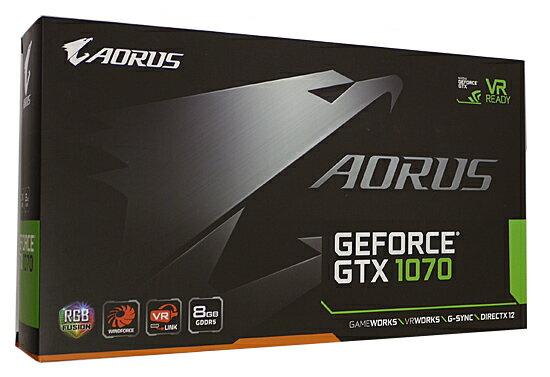 【中古】GIGABYTE製グラボ AORUS GV-N1070AORUS-8GD Rev2.0 PCIExp 8GB 元箱あり