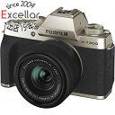 【新品訳あり(欠品あり)】 FUJIFILM ミラーレス一眼カメラ X-T200 レンズキット シャンパンゴールド 欠品あり