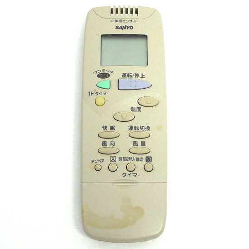 【中古】SANYO製 エアコンリモコン RCS-FB1 傷あり