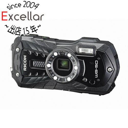 RICOH製 防水デジタルカメラ WG-50 ブラック/1600万画素