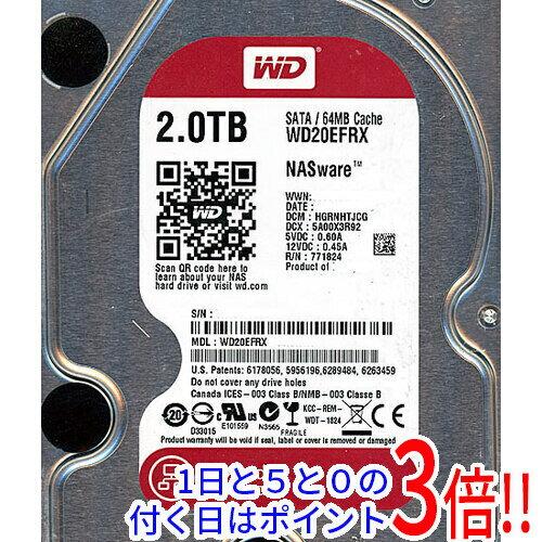 Western Digital製HDD WD20EFRX 2TB SATA600
