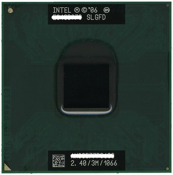 【中古】Core 2 Duo モバイル P8600 2.40GHz FSB1066MHz SLGFD