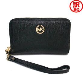 【訳あり】マイケルコース 財布 アウトレット フォーンウォレット 携帯ケース MICHAEL KORS 35H5GFTE3L BLK ブラック【あす楽】 エクセルワールド プレゼントにも