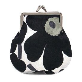 マリメッコ 財布 がま口 ウニッコ MARIMEKKO 20310 030 ホワイト×ブラック【あす楽 】