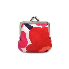 マリメッコ 財布 がま口 ポーチ ウニッコ MARIMEKKO 34773 001 ホワイト/レッド【あす楽 】