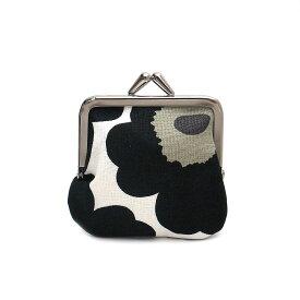マリメッコ 財布 がま口 ポーチ ウニッコ MARIMEKKO 34773 030 ホワイト/ブラック【あす楽 】