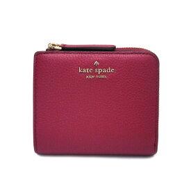 ケイトスペード 財布 アウトレット 二つ折り財布 WLRU5471 616 kate spade L字ファスナー レッド【あす楽】 エクセルワールド ブランド プレゼントにも
