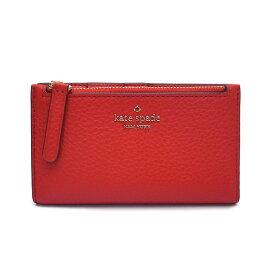 ケイトスペード 財布 アウトレット 二つ折り財布 WLRU5472 611 kate spade スリムウォレット レッド【あす楽】 エクセルワールド ブランド プレゼントにも