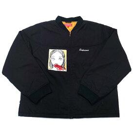 新品 シュプリーム Supreme メンズ ジャケット Rita Ackermann マグショット クルー ジャケット Mug Shot Crew Jacket ネイビー Lサイズ 直営店買付 本物 2019AW FW19J92 BLACK ブラック【あす楽】 エクセルワールド ブランド プレゼントにも