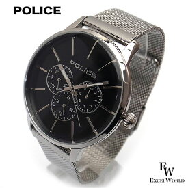 ポリス POLICE 時計 腕時計 14999JS 02 ステンレス ビジネス クロノウォッチ 5気圧防水 カレンダー表示 2年保証 メーカー正規品 エクセルワールド ブランド ブレゼント TP