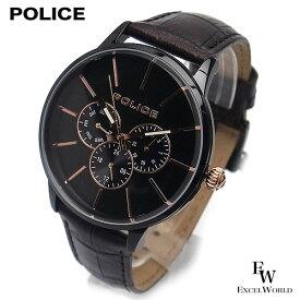 ポリス POLICE 時計 腕時計 14999JSB 02 ビジネス クロノウォッチ 5気圧防水 カレンダー表示 2年保証 メーカー正規品 エクセルワールド ブランド ブレゼント TP