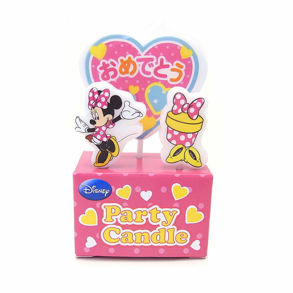 【NEW!!】Disny ディズニー パーティーキャンドル 【ミニー】 バースデー キャンドルで特別な誕生日を♪