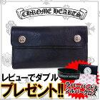 クロムハーツ(CHROMEHEARTS)【財布・カードケース】ウォレットウエーブクロスボタンレザー