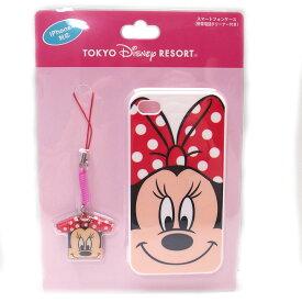 DISNYディズニー ミニー iphoneケース ストラップ セット iphone4専用 01697 エクセルワールド プレゼントにも ディズニーグッズ