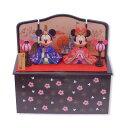 ミッキー&ミニー 雛人形 (大) 台座に収納できて便利 ひな人形 お雛さま ディズニー リゾート限定 エクセルワールド …