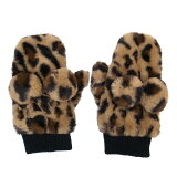 ミッキーマウスかわいいヒョウ柄手袋ウィンターアイテム2019ディズニーリゾート限定【あす楽】