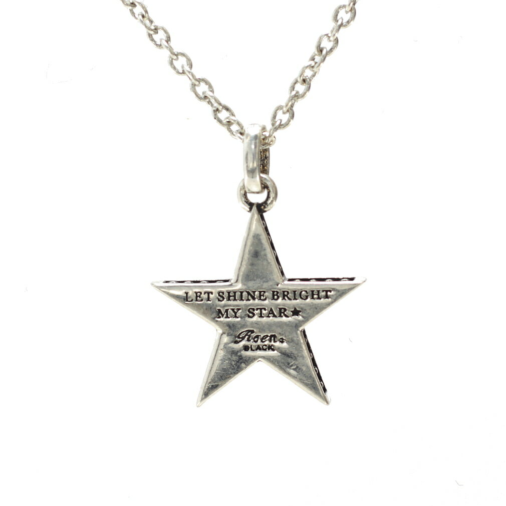 Roen BLACK ロエン スター ペンダント ネックレス シルバーカラー リバーシブル 星 ROー603