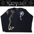 WOLFMANB.R.S/ウルフマン/長袖Tシャツ/デビルウルフ/ロングスリーブTシャツ/T-NW-57BKMサイズ