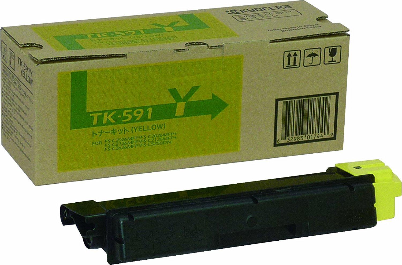 【メーカー純正】新品 京セラ KYOCERA トナーカートリッジ TK-591Y イエロー /FS-C2626MFP C2026MFP C2126MFP P6026cdn/M6526cdn/FS-C5250DN/FS-C5250DN 0113_flash