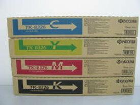 【メーカー純正】新品 京セラ トナーカートリッジ TK-8326 4色セット K/Y/M/C ブラック・イエロー・マゼンタ・シアン /TASKalfa 2551ci 0113_flash