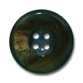 バッファロー ブルー【色番: 55】 25mm /[EXCY本水牛ボタンシリーズ]