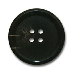 ムース ブラック【色番: 6】 20mm /[EXCY本水牛ボタンシリーズ]