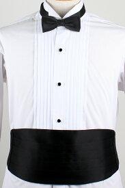 カマーバンド&蝶ネクタイ /高級素材の拝絹地を使用した蝶ネクタイとカマーバンドのセット/カマーバンド黒/カマーバンド ブラック