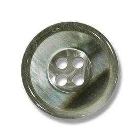 1139 ライトグレー(色番:413) 20mm /[EXCY天然貝ボタンシリーズ]